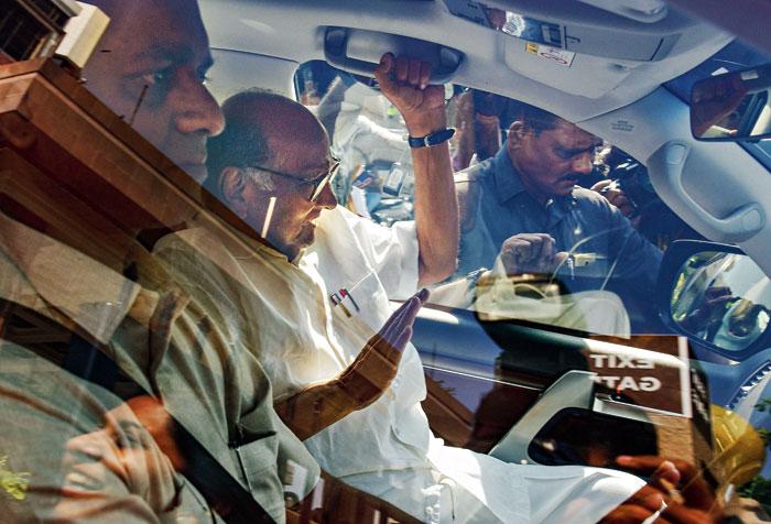 Sharad Pawar in Mumbai on Monday