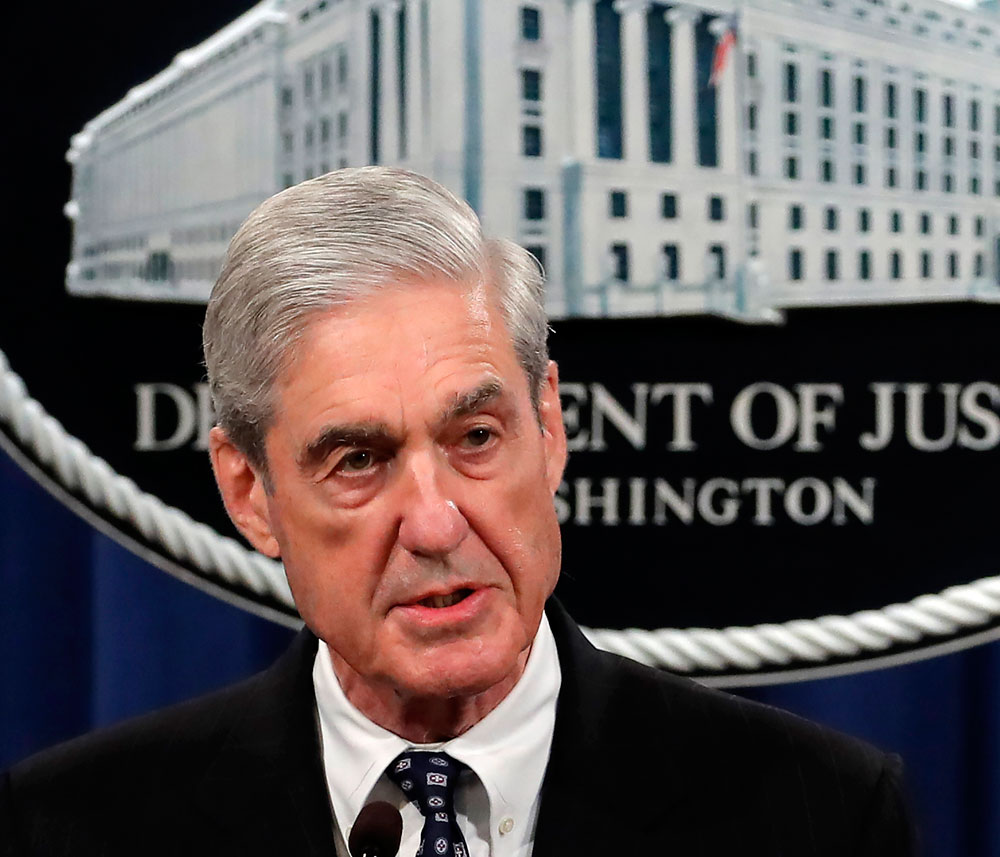 Special counsel Robert Mueller in Washington on Wednesday