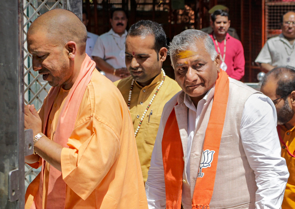 Election Commission warns Yogi Adityanath