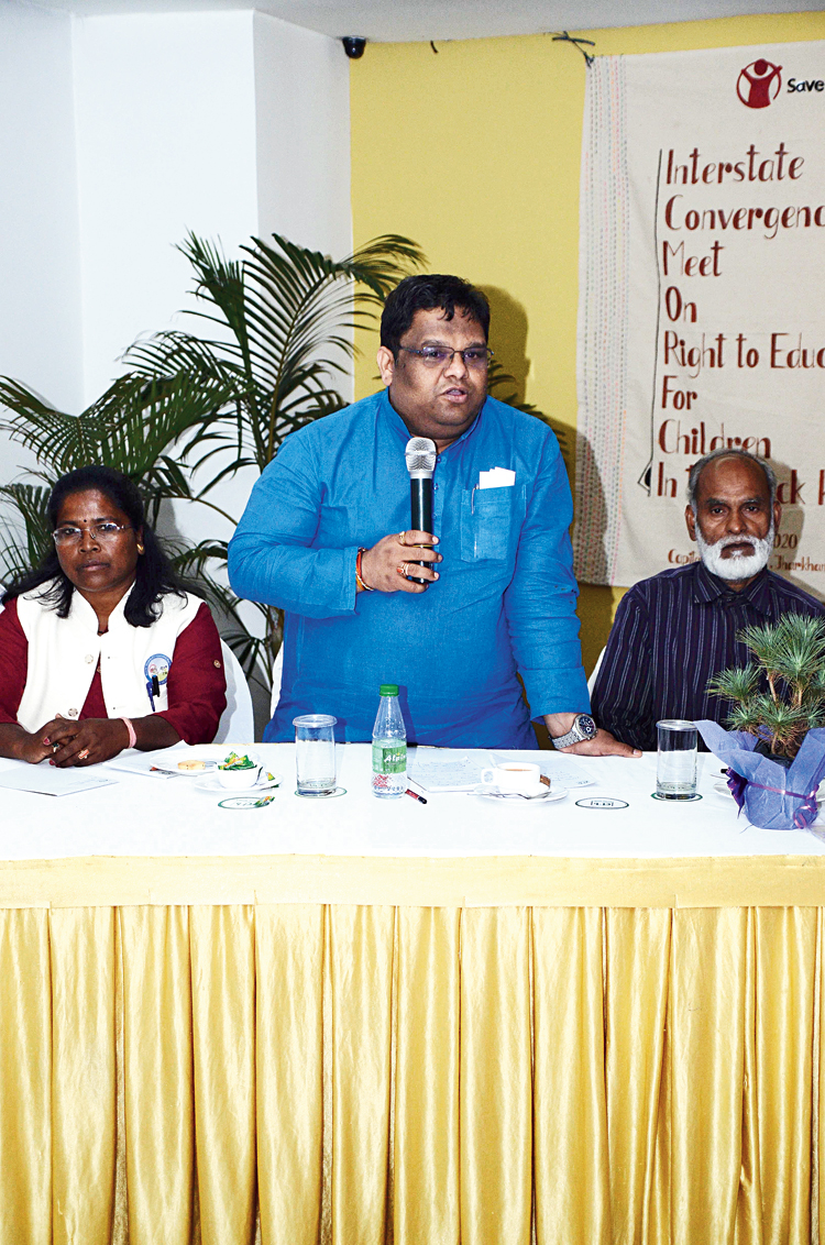 Chairperson of NCPCR Priyank Kanungo at the Save the Children event in Ranchi on Tuesday.