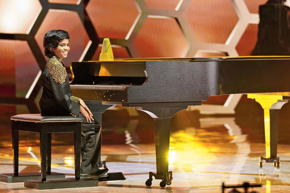 Winning this season's The World's Best (a talent show on CBS), the piano wizard now has projects lined up with A.R. Rahman and he also plans to compose movie scores.
