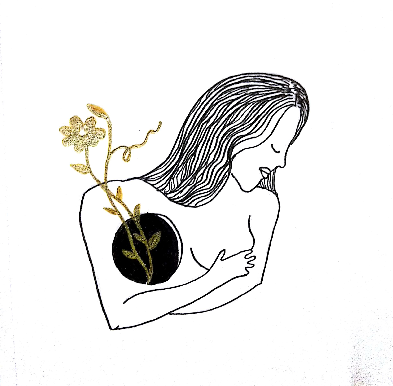 Art from a broken heart: An Inktober series on cancer