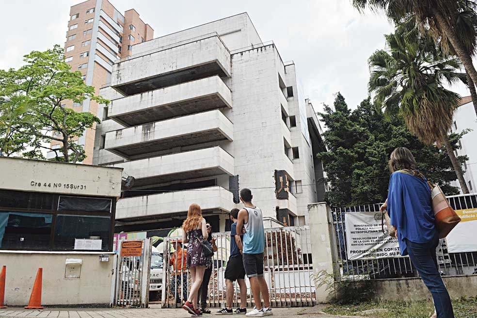 A file picture shows the building that Pablo Escobar called home in Medellin.