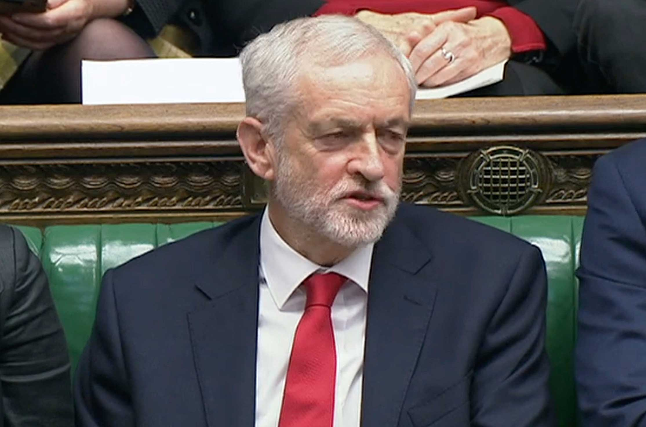 Jeremy Corbyn during the weekly Prime Minister's Questions in the House of Commons on December 19, 2018.