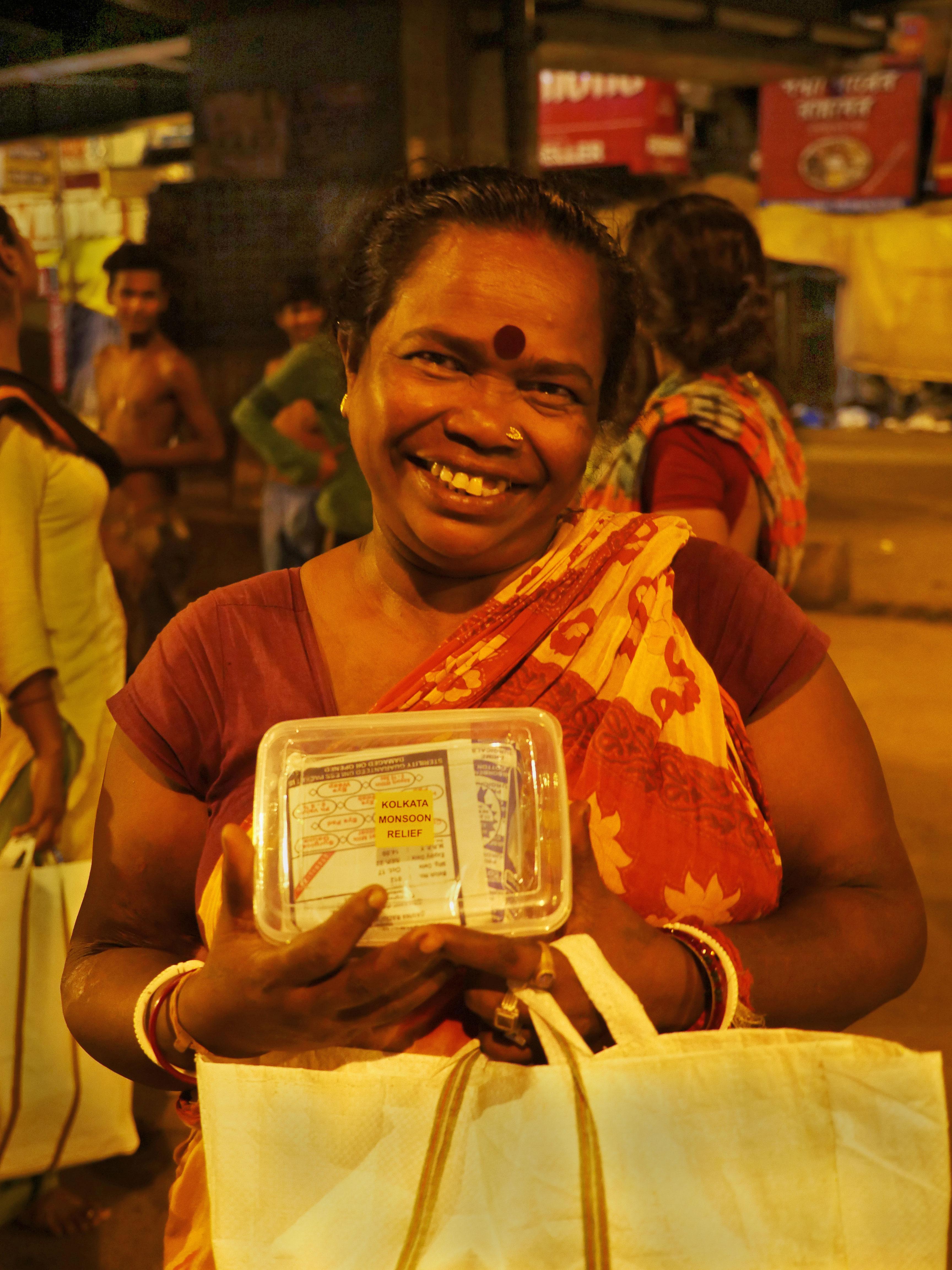 The Kolkata Monsoon Relief kit.