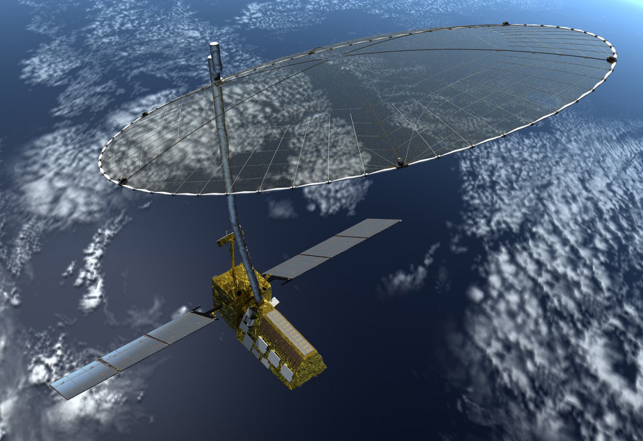 Artist concept of the Nasa-Isro synthetic aperture radar (NISAR) satellite in orbit. India's interests in this ongoing collaboration between Isro and Nasa include the monitoring of agricultural biomass over India, Himalayan glacier studies, coastal studies, and disaster monitoring and assessment