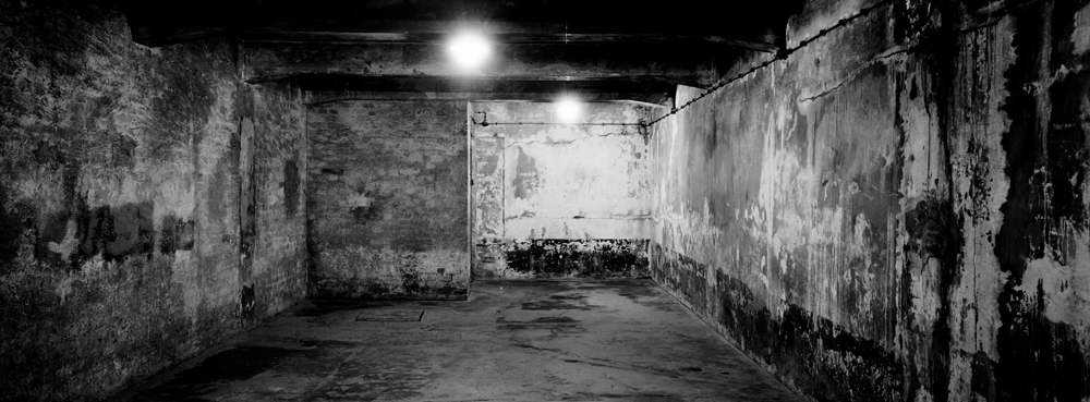 A view inside gas chamber one at the former Nazi death camp of Auschwitz I in Oswiecim