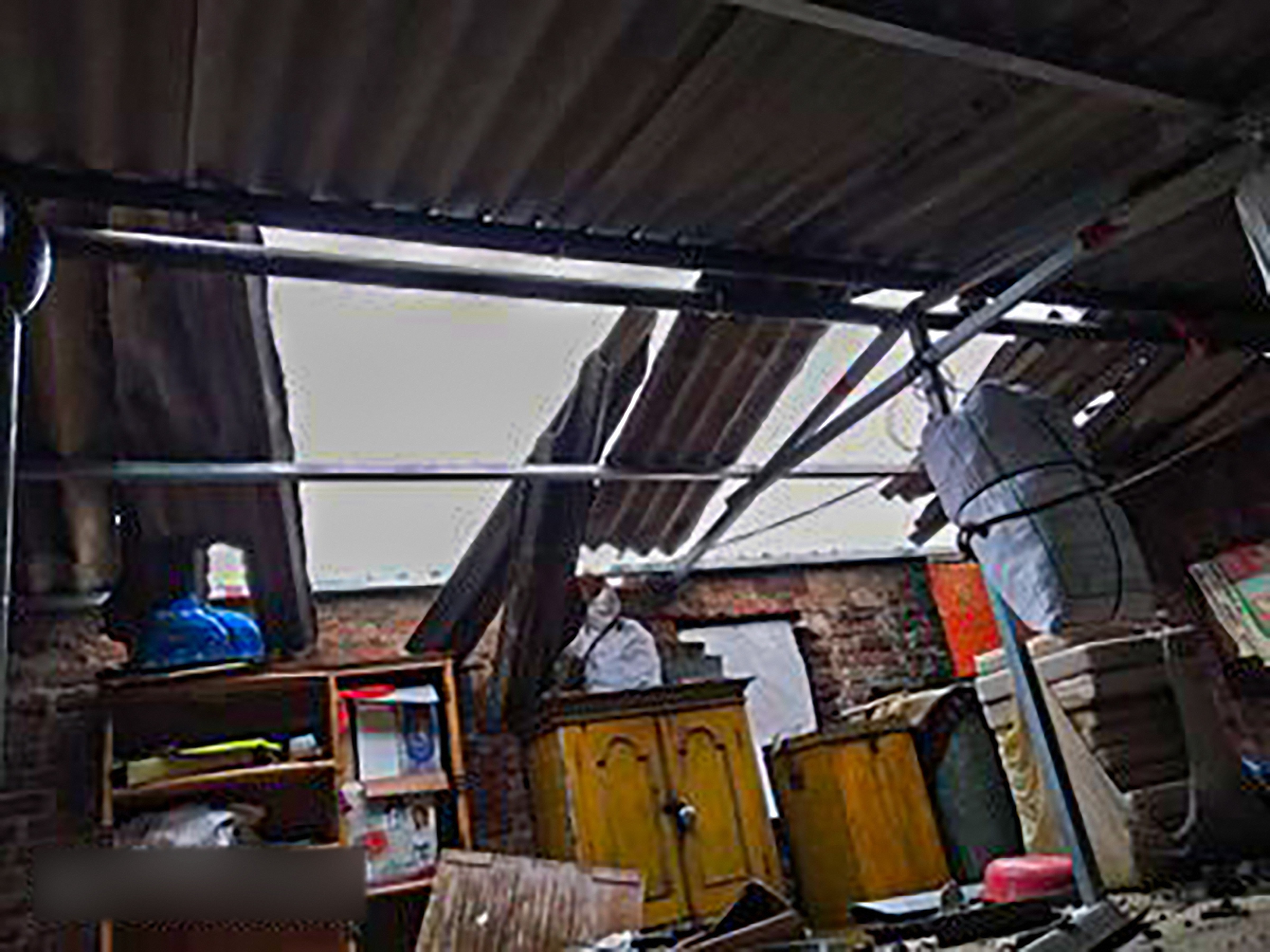 A house damaged during Cyclone Nisarga, at Roha in Raigad, Wednesday, June 3, 2020. Cyclone Nisarga made landfall near Maharashtras coastal town of Alibag, around 100 kilometers (60 miles) south of Mumbai, on Wednesday afternoon.