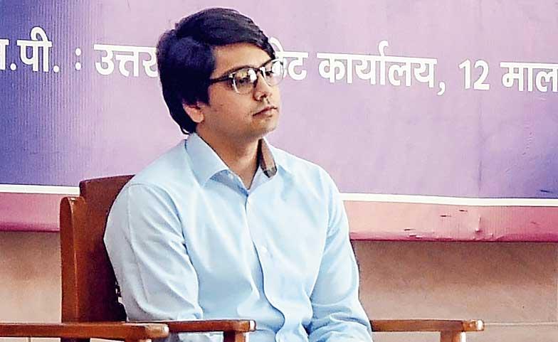Mayawati's nephew Akash Anand on March 3, 2019.