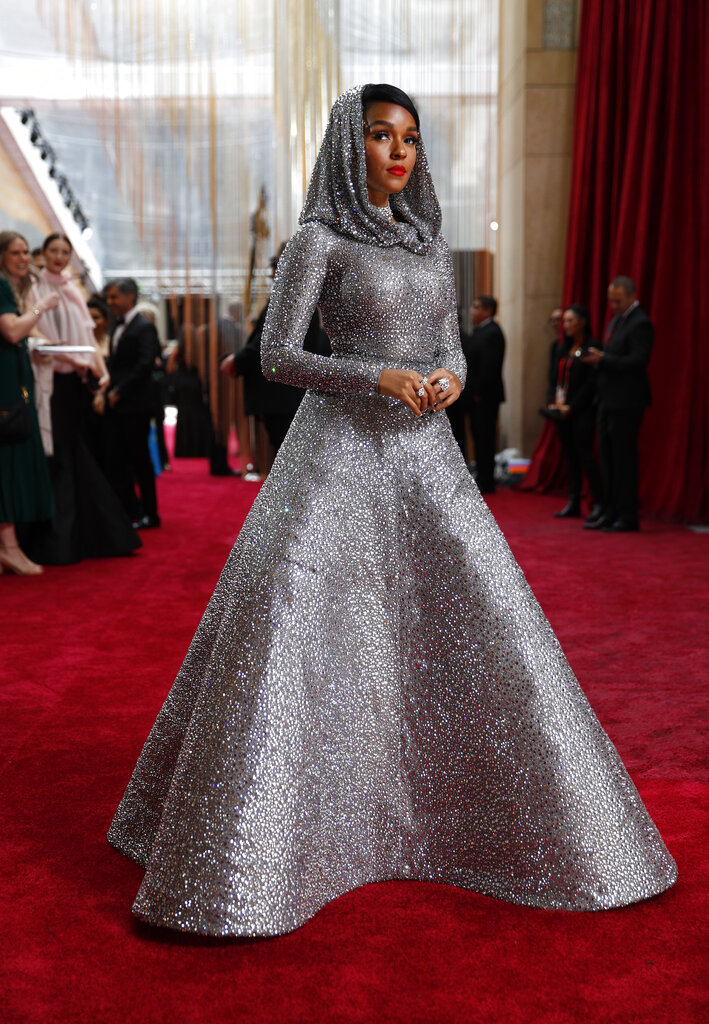 Janelle Monae arrives at the Oscars on Sunday, February 9, 2020, at the Dolby Theatre in Los Angeles