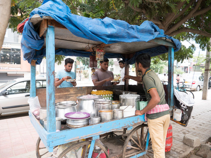 many roadside dosa and snack stalls are on a break in Jamshedpur due to Tusu Parab