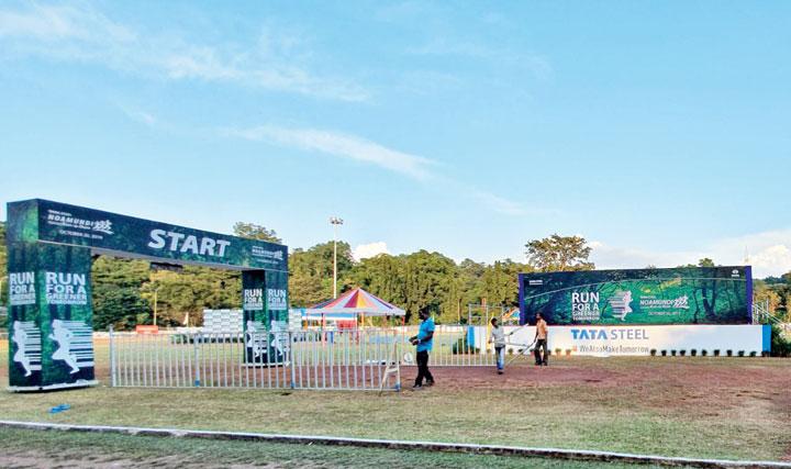 The Noamundi sports complex in West Singhbhum on Saturday