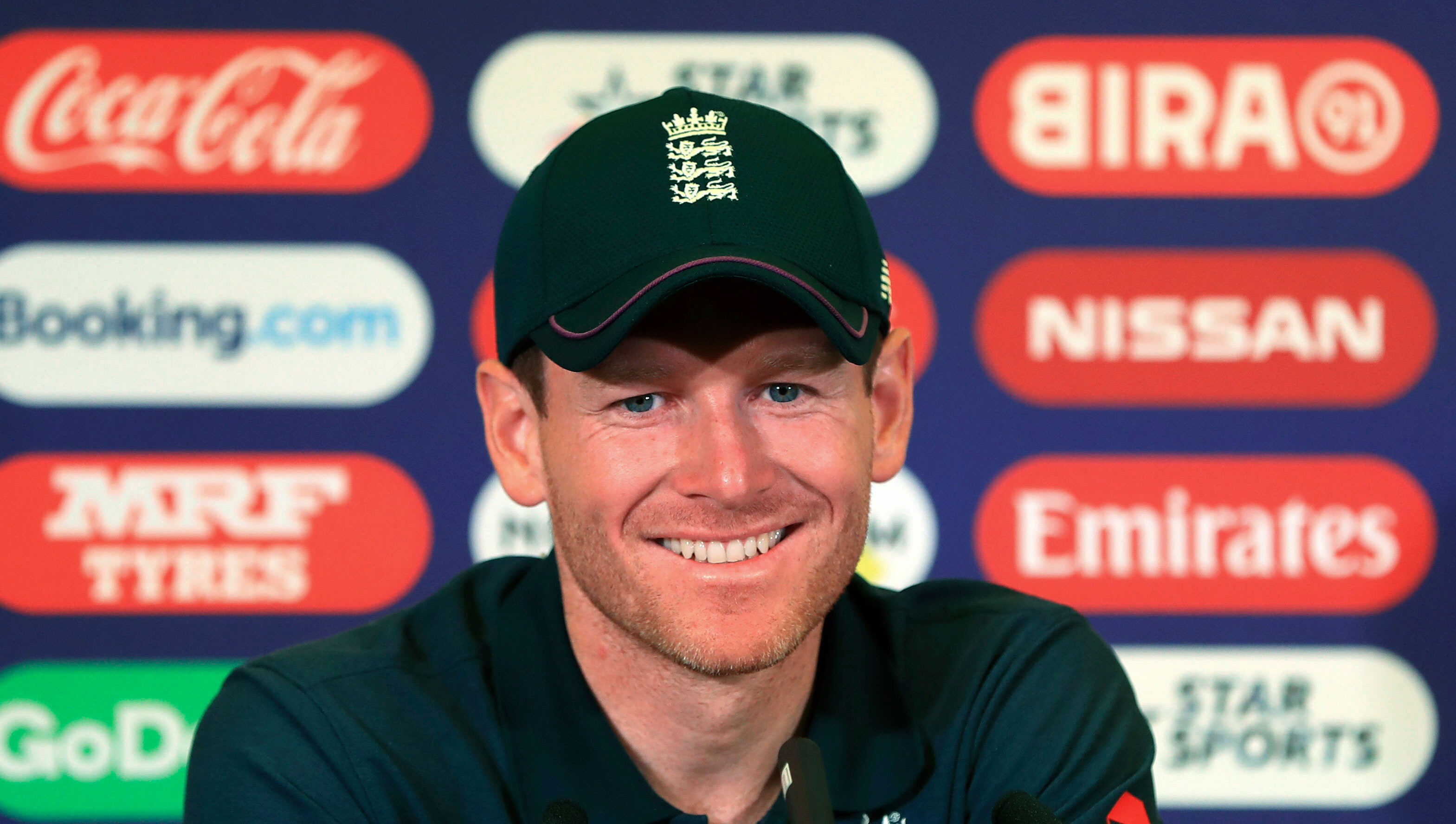 England captain Eoin Morgan during a press conference at Trent Bridge in Nottingham, England, on June 2, 2019.