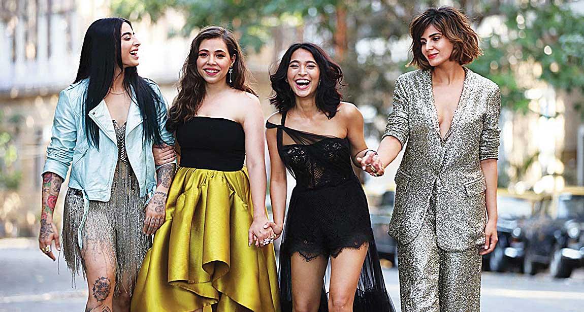 (L-R) Bani Judge, Maanvi Gagroo, Sayani Gupta and Kirti Kulhari in Four More Shots Please!