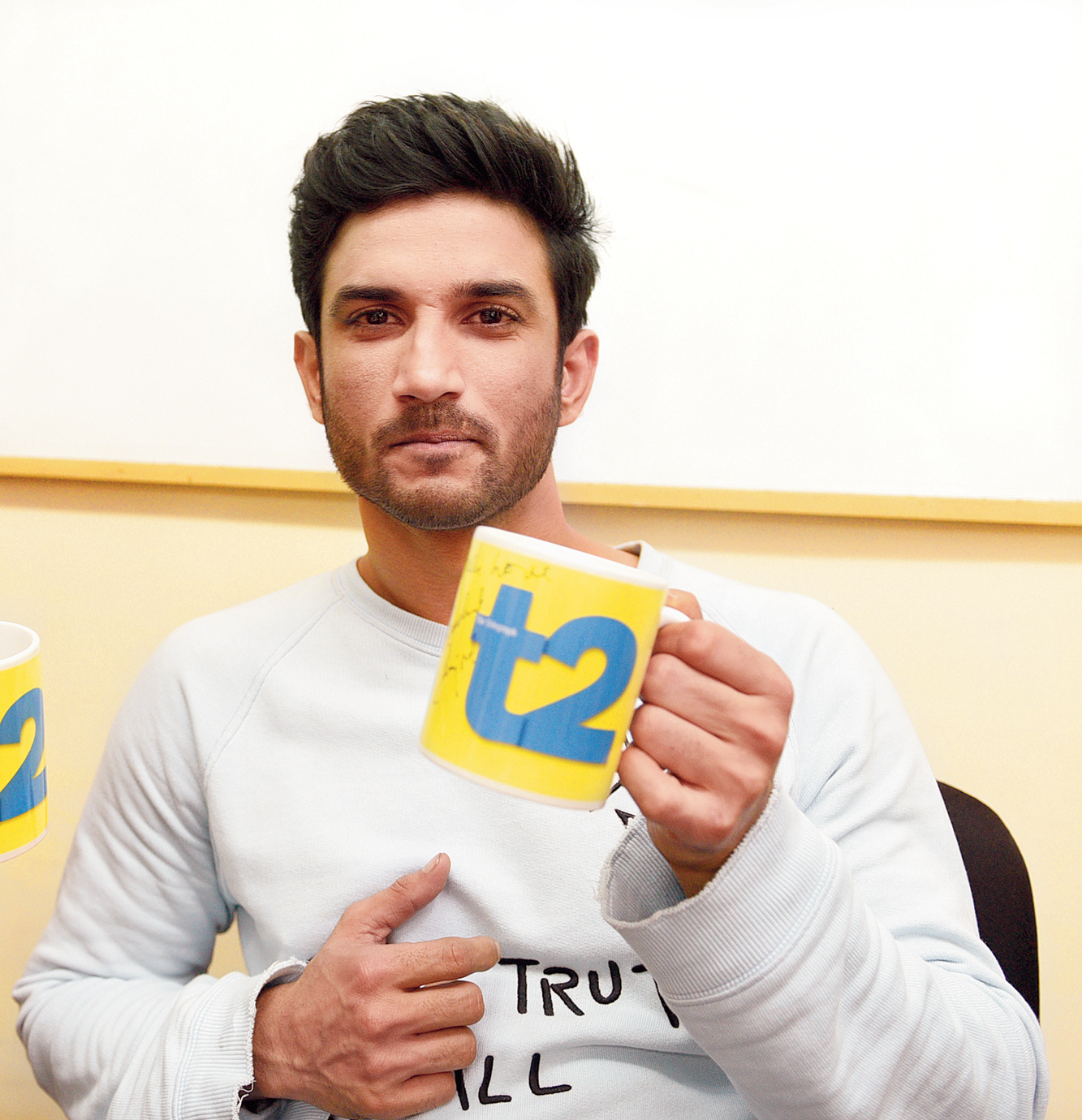 Sushant Singh Rajput at the t2 office in June 2017 when he had dropped in to promote Raabta