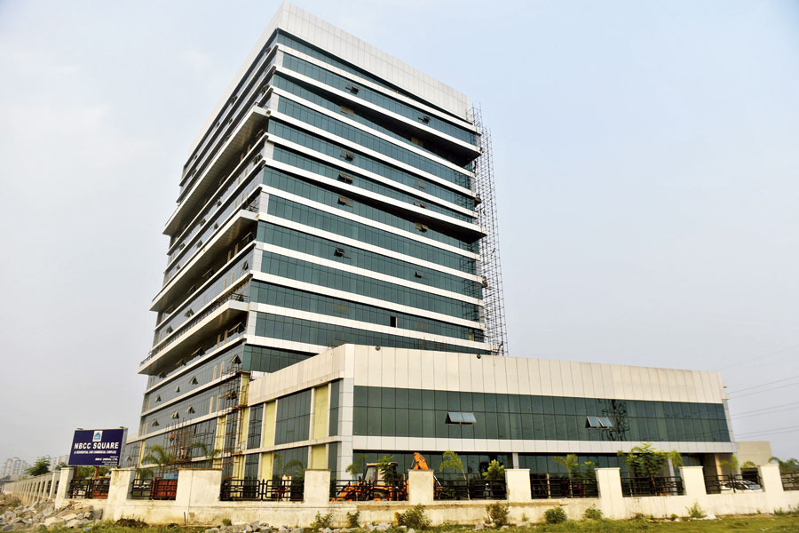 The NBCC Ltd campus in New Town where a 200-bed quarantine centre is being set up.