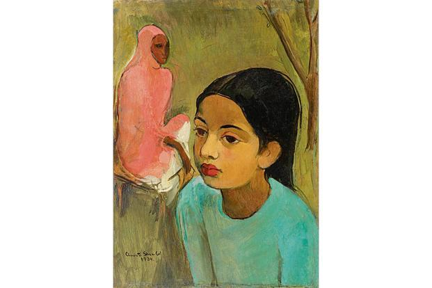 'The Little Girl in Blue' painted by the artist in 1934 is only the third oil painting by Amrita Sher-Gil to go under the hammer in India. Estimate: Rs 8.50 crore to Rs 12.50 crore