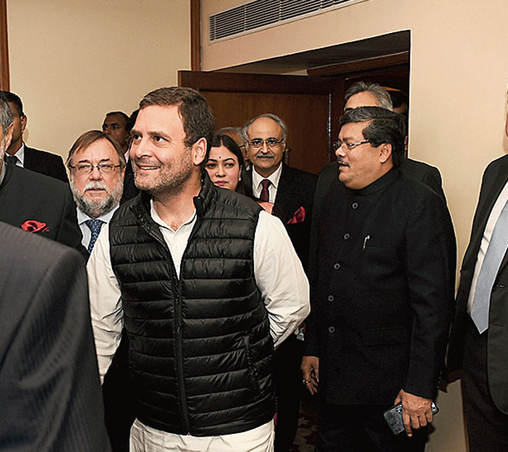 Rahul at the meeting in New Delhi on Wednesday