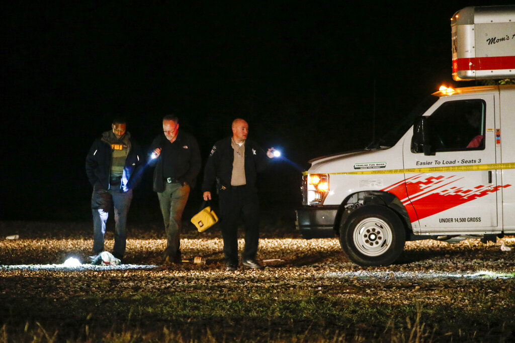 Chief deputy Buddy Oxford of the Hunt County Sheriff's Department at the crime scene after a shooting at Party Venue on Highway 380 in Greenville, Texas, on Sunday, October 27, 2019.