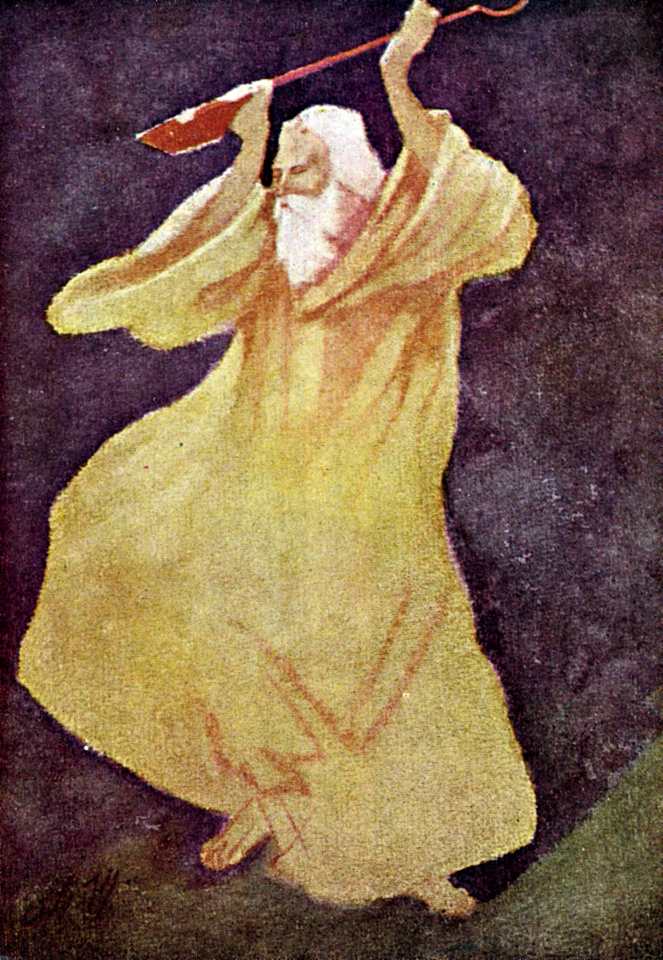 A painting of Rabindranath Tagore by Abanindranath Tagore