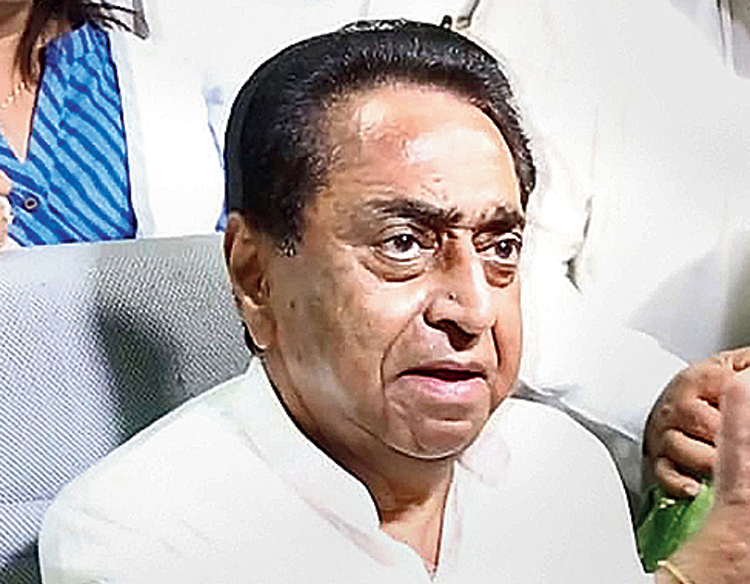 Kamal Nath in Bhopal on Wednesday