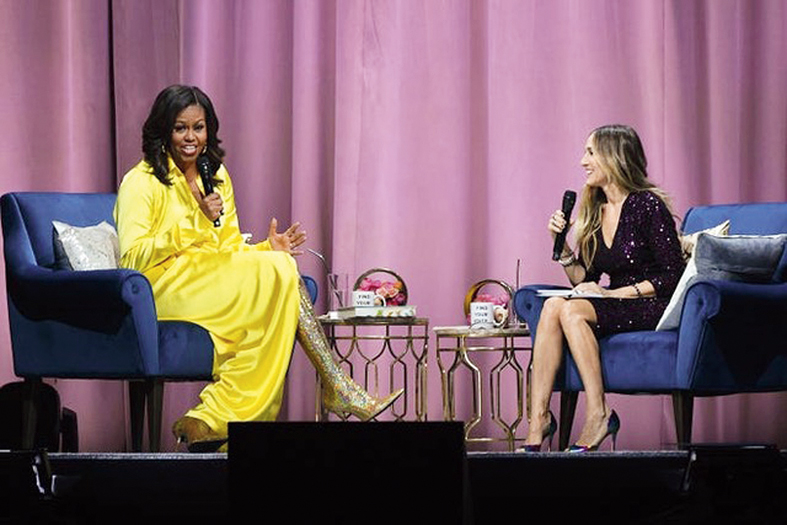 The Netflix documentary, Becoming weaves a narrative strung together by her 34-city book tour in 2018, featuring on-stage interviews as well as more intimate behind-the-scenes moments, as an extension of the book itself