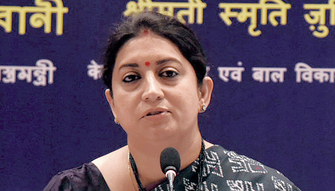 Smriti Irani in Calcutta on Tuesday