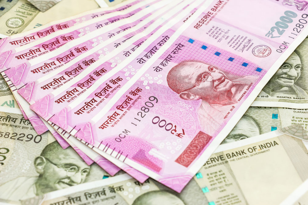 The rupee settled at 68.53, a gain of 57 paise against the dollar over its previous close.