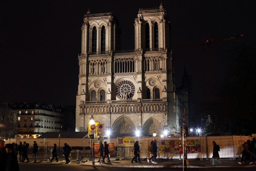 Notre Dame Cathedral is unable to host Christmas services for the first time since the French Revolution, because the Paris landmark was too deeply damaged by this year's fire.