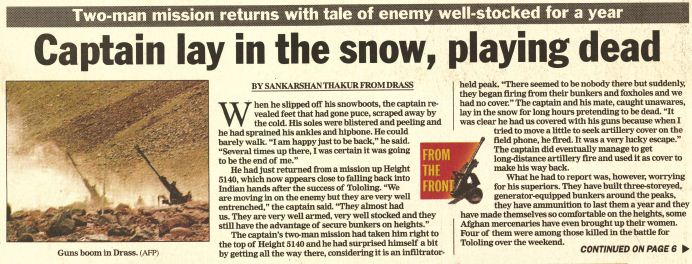 Kargil reports from 1999: Climber, Crawler, Soldier, Spy