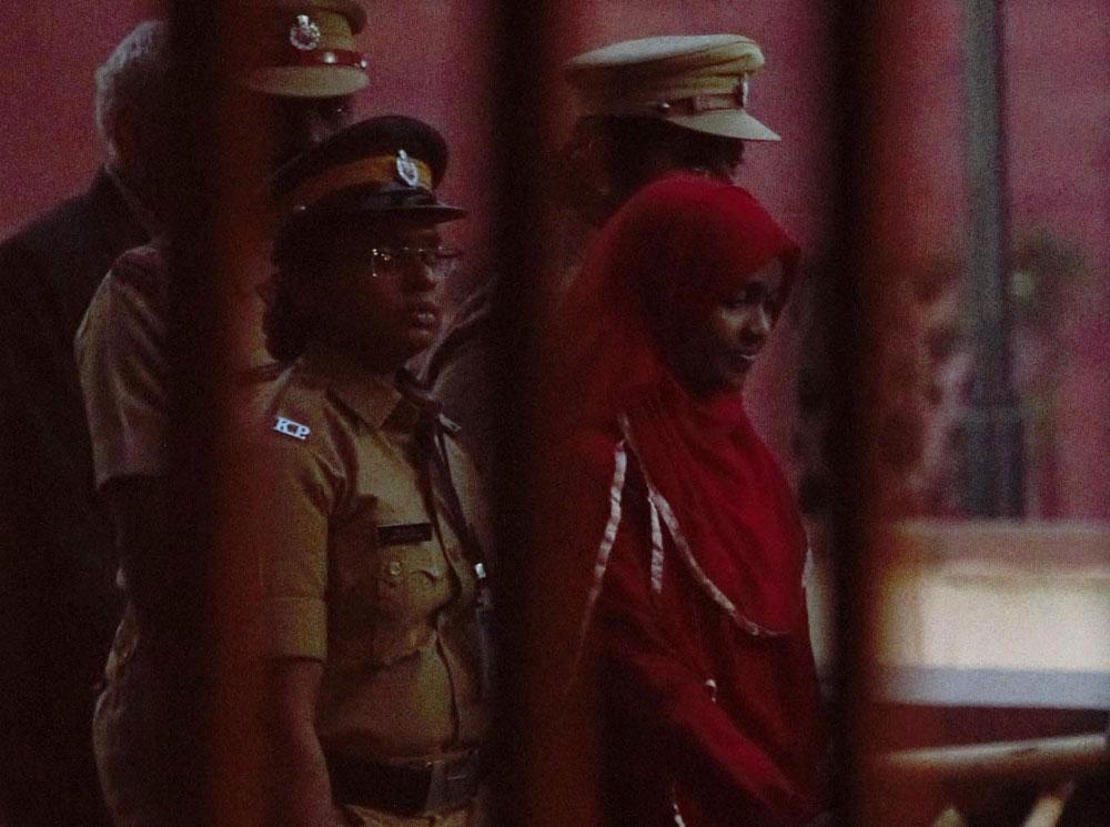 Hadiya leaving court