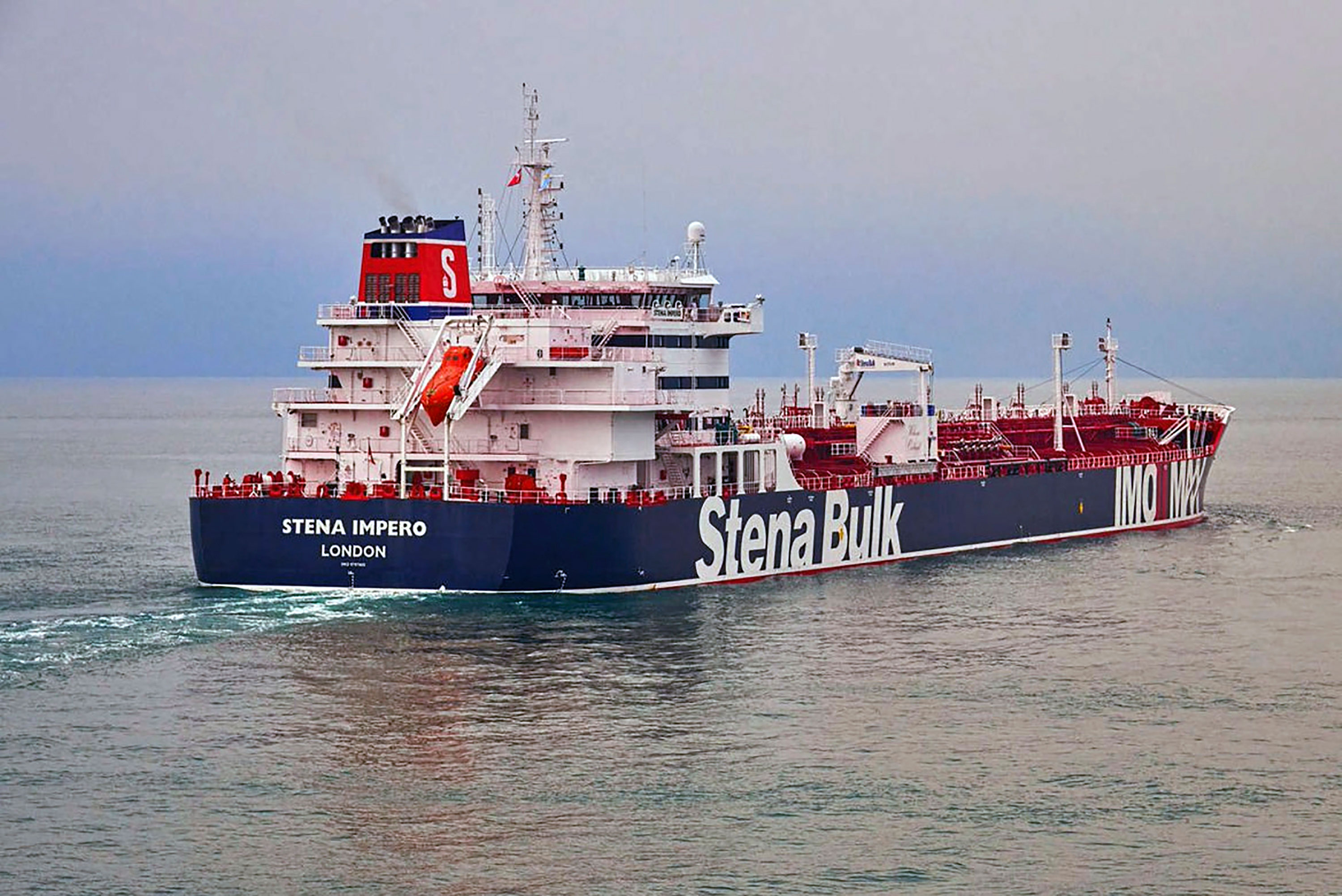 The British-flagged oil tanker, Stena Impero, in the Iranian port of Bandar Abbas.