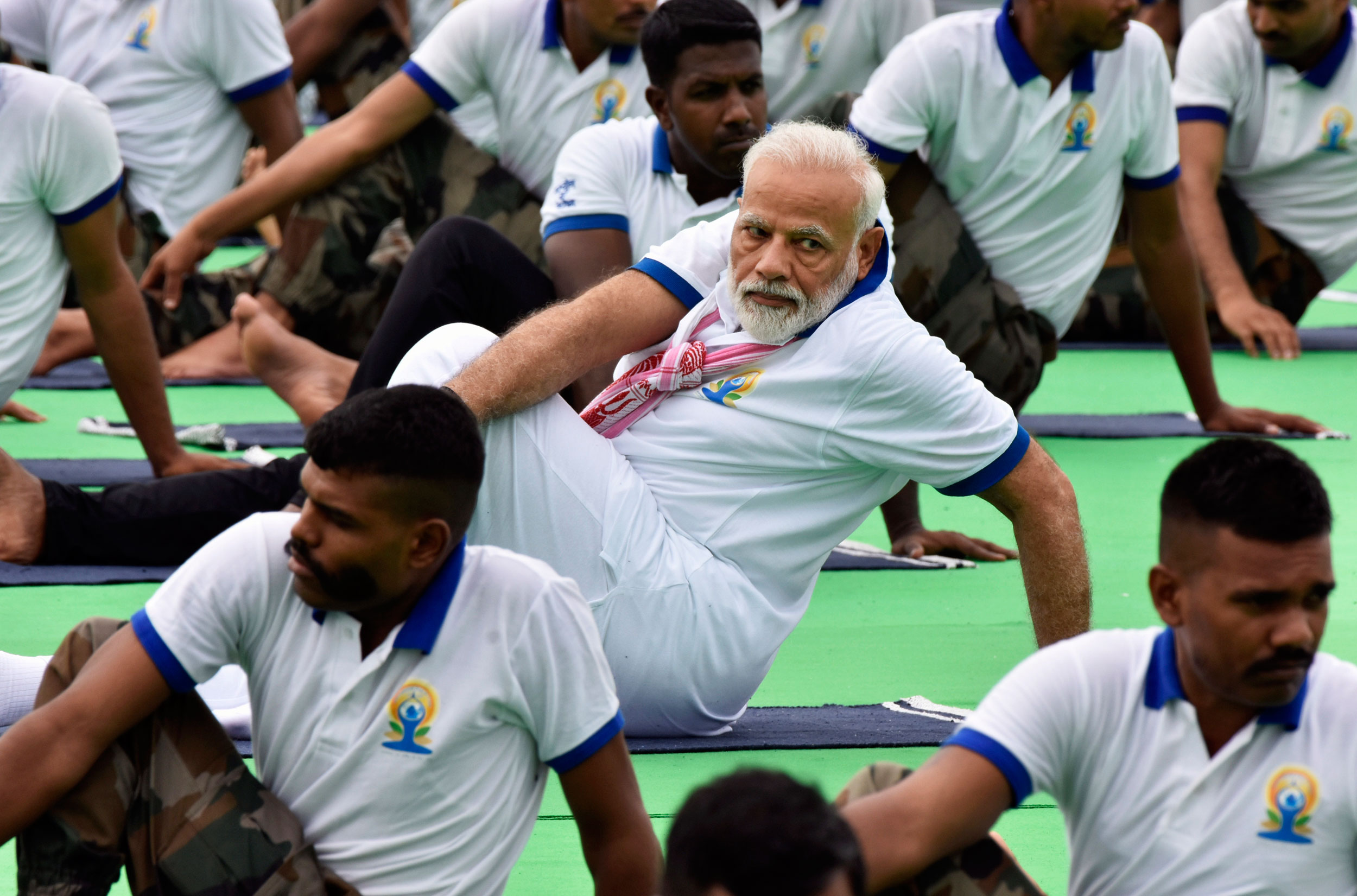 Does not the prime minister set time aside from his demanding schedule to strike impressive poses on International Yoga Day?