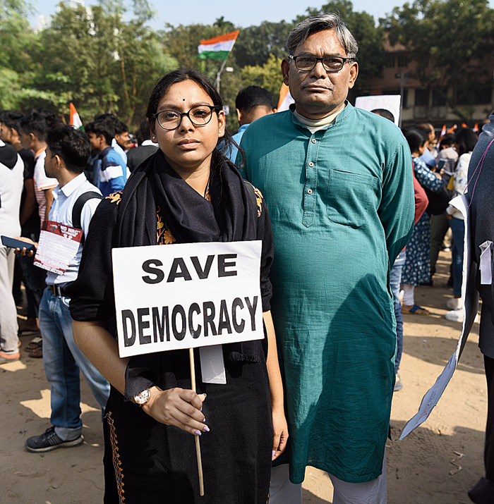 Sukanya with father Bimal Karmakar