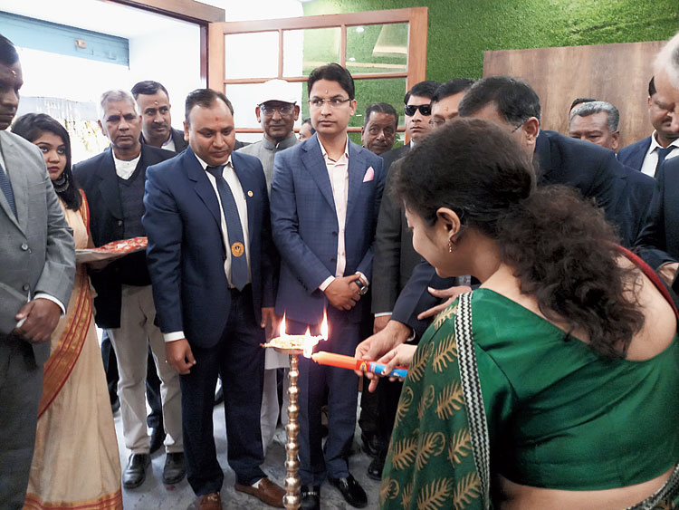 Bista during the inauguration of the new building in Siliguri on Saturday