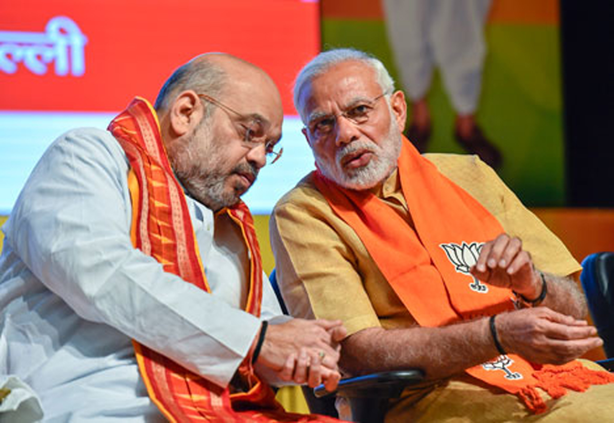 Amit Shah had described Narendra Modi as the strong leader who sends shivers down the spine of his enemies.