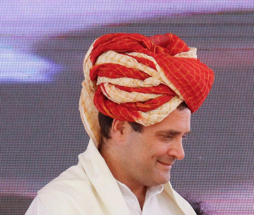 Congress President Rahul Gandhi at an election campaign at Kotputli in Jaipur district on Monday, April 29, 2019.