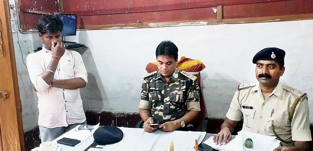 Driver Yogendra Gupta (left) arrested on Friday.