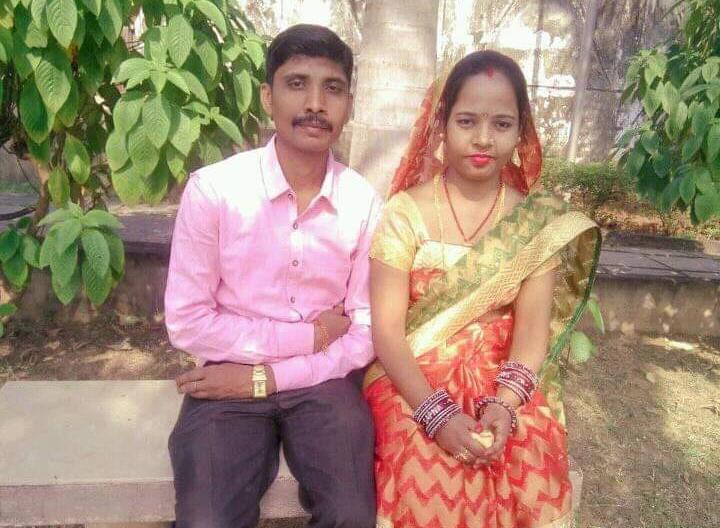 Sanjeev Kumar Das with his wife.