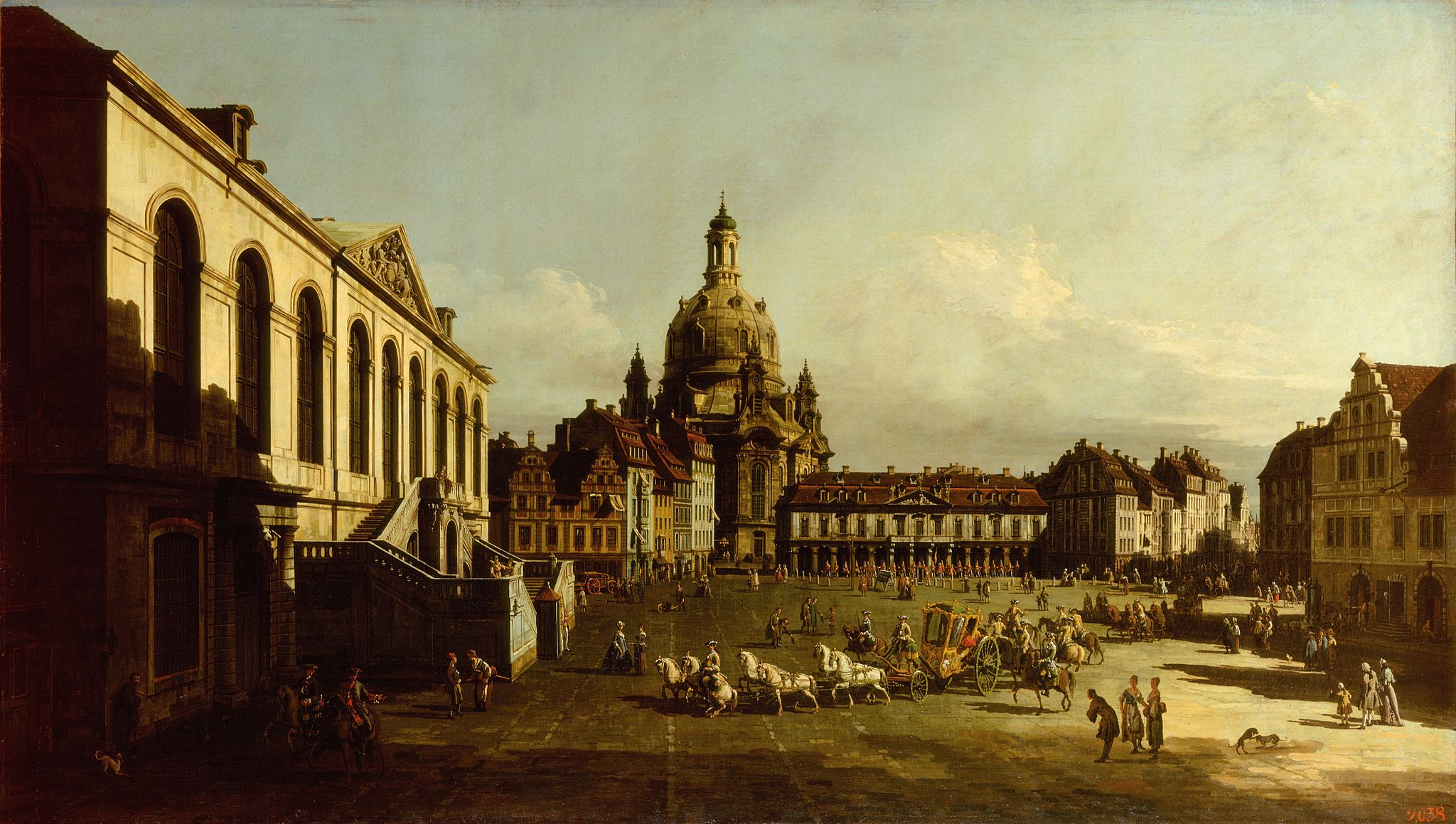 17th century Venetian painter, Bernardo Bellotto, had created 22 paintings of Warsaw's Old Town during his stint as the official court painter