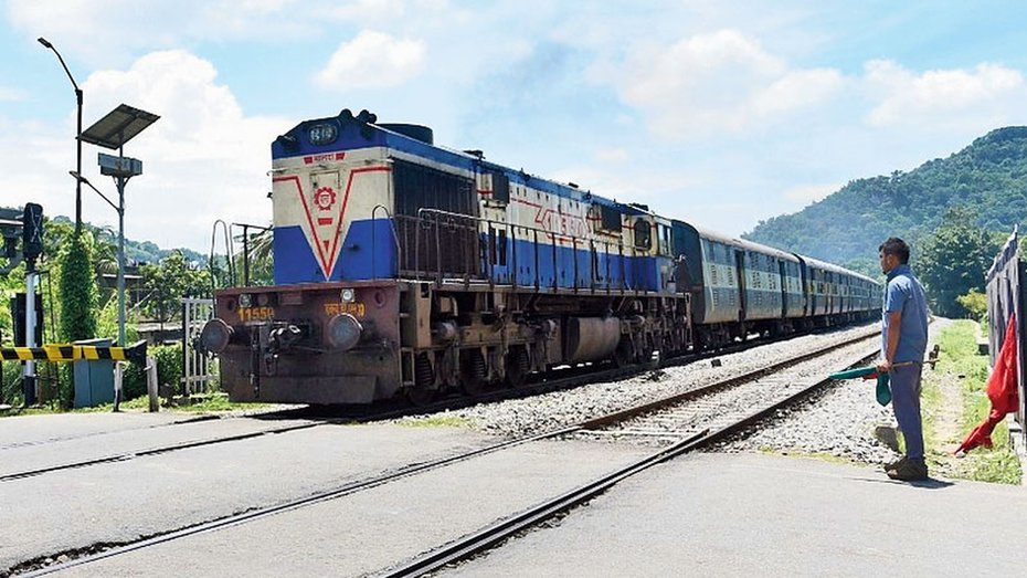 The new Guwahati-Dibrugarh Special Covid-19 train, which ran on Wednesday, transported 104 tonnes of vegetables like tomato, squash, brinjal, carrot, lemon, dry chilly and other items like jaggery, dried fish and fruits.
