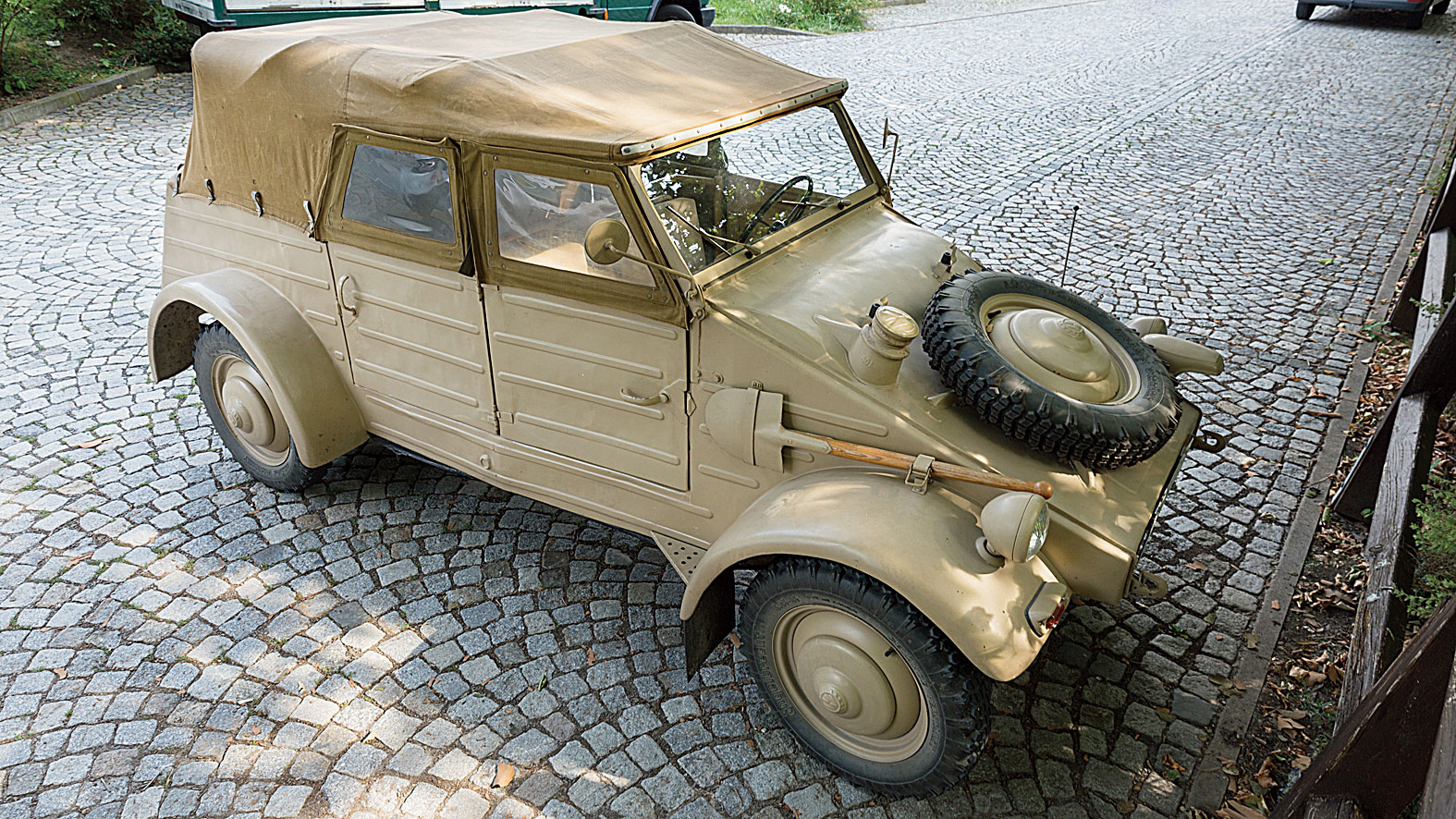 With the changes demanded by the German army, it became the Type 82 Kubelwagen, or 'bucket car' that the chief of the Afrika Corps Erwin Rommel would go on to say had saved his life since it could ride over landmines without setting them off