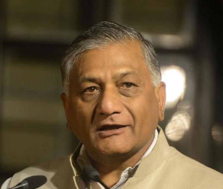 Junior foreign minister V.K. Singh
