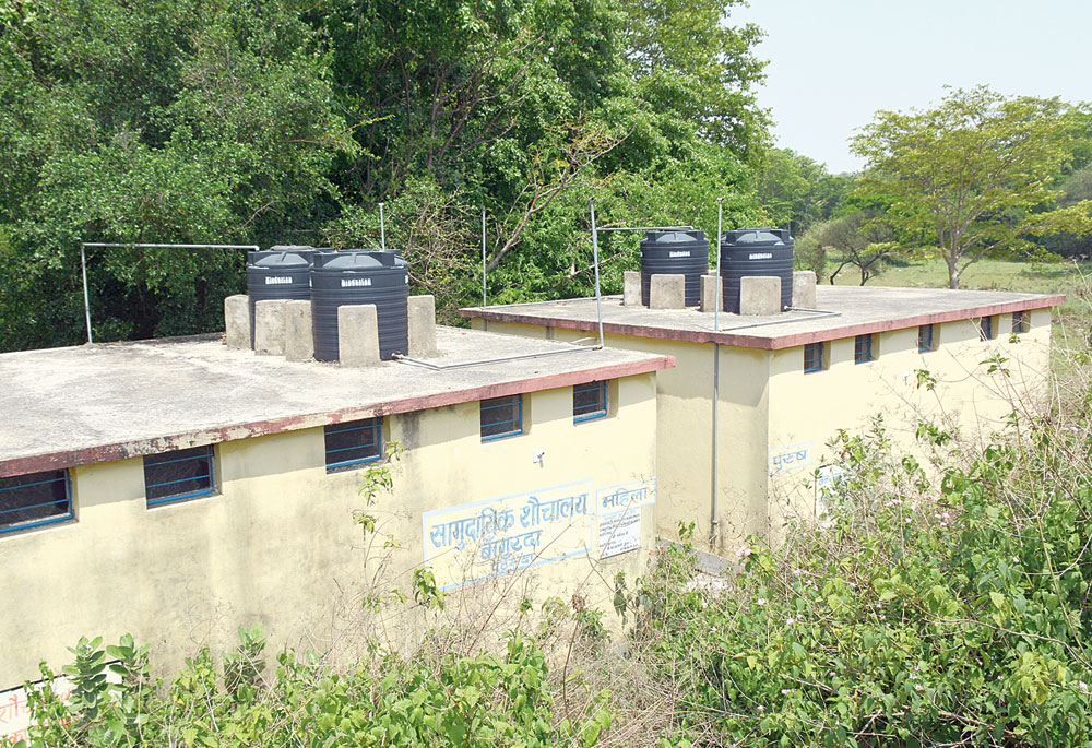 The unused community toilets at Bangurda in Patamda on Monday