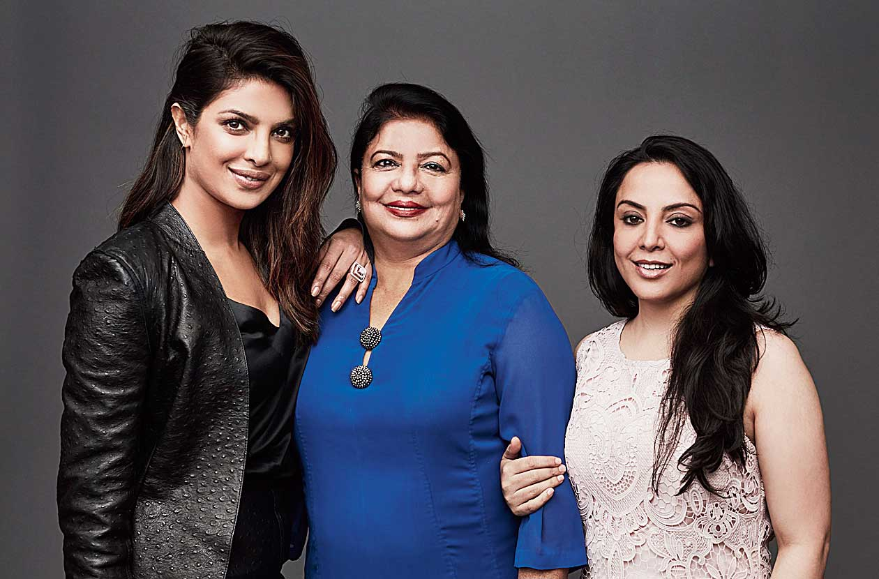 Paakhi (right) with Priyanka and Madhu Chopra