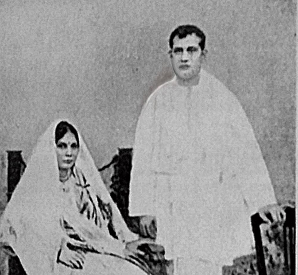 Sucharu Devi and Sriram Chandra on their wedding day.