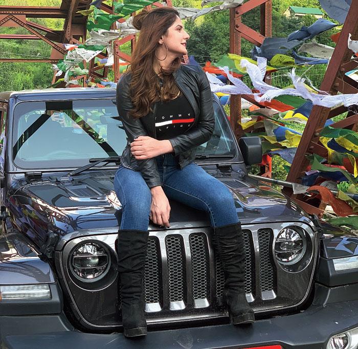 Zareen Khan on Jeep Bollywood Trails, starting Saturday