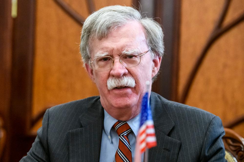 Former US national security adviser John Bolton