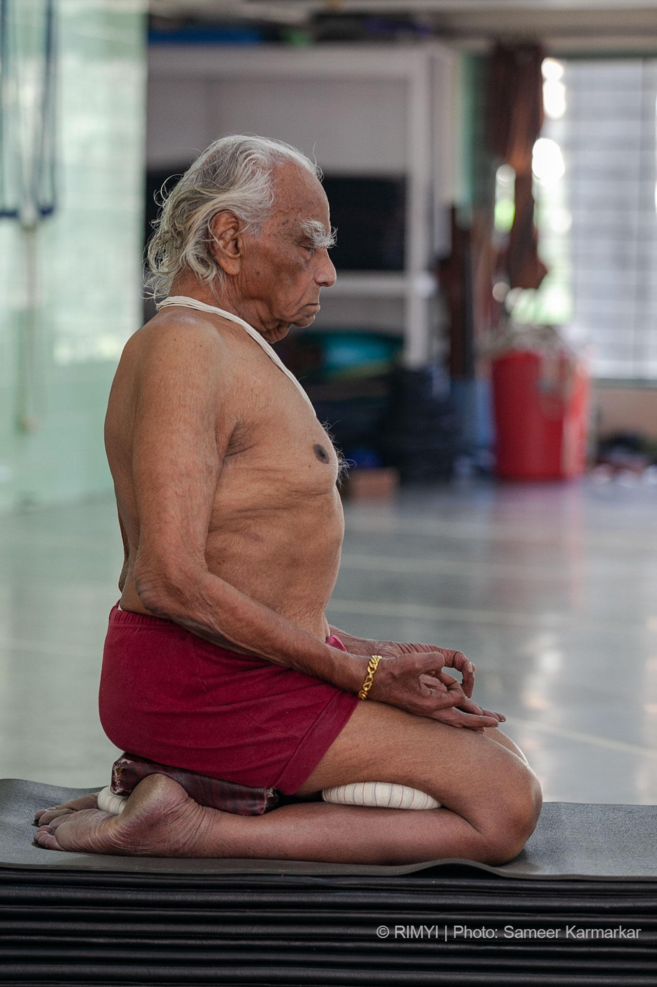 Iyengar's form of yoga is more oriented towards physical asanas and breathing techniques researched over years of personal practice.