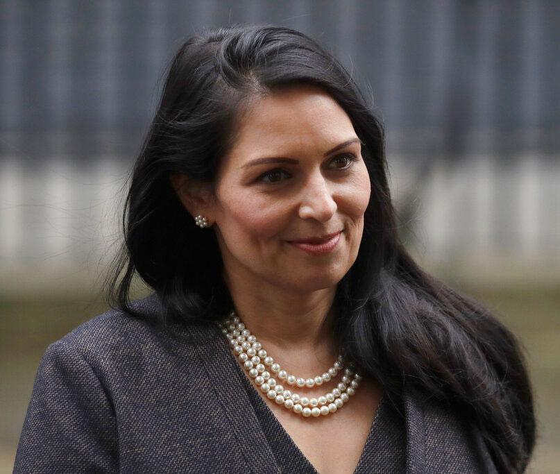 British home secretary Priti Patel at 10 Downing Street